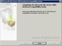 Completing the Microsoft SQL Server 2005 Backward compatibility Setup