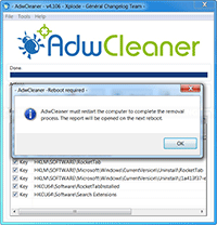 AdwCleaner - Reboot Required