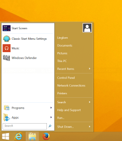 Classic Start menu on Windows 8.1