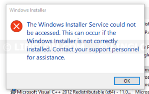 The Windows Installer Service could not be accessed