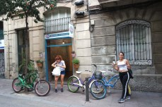 At the bike shop in Gracia