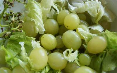 Easy Recipe with Lettuce and White Grape