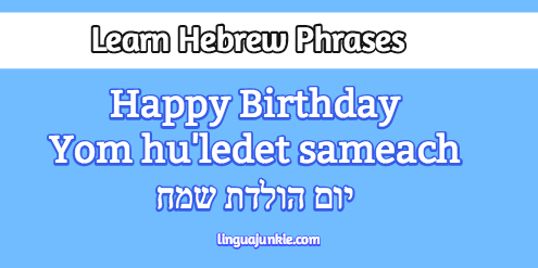 Learn Happy Birthday In Hebrew Hebrew Birthday Wishes