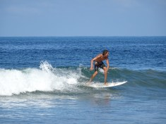 Student at surf lesson