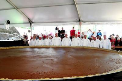 World's largest pumpkin pie