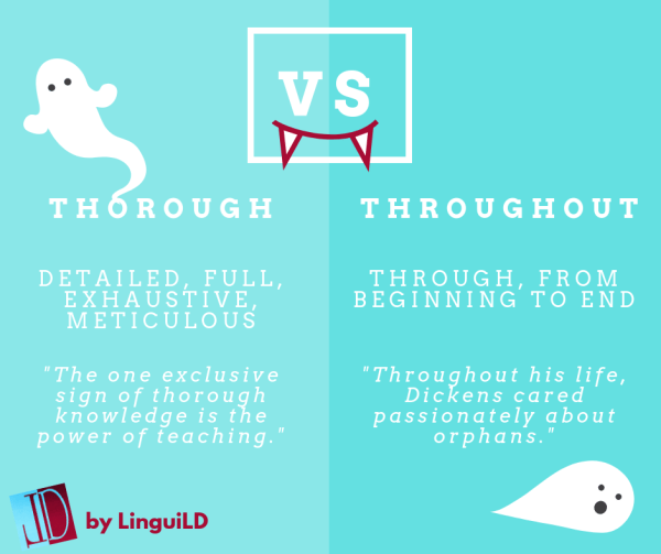Thorough vs throughout by LinguiLD