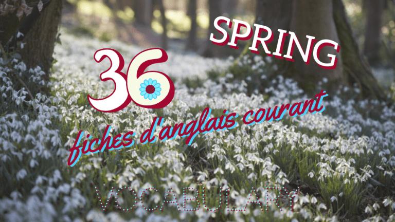 36 mots de vocabulaire courant sur le printemps