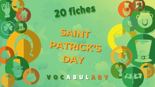 20 mots vocabulaire courant anglais saint patrick