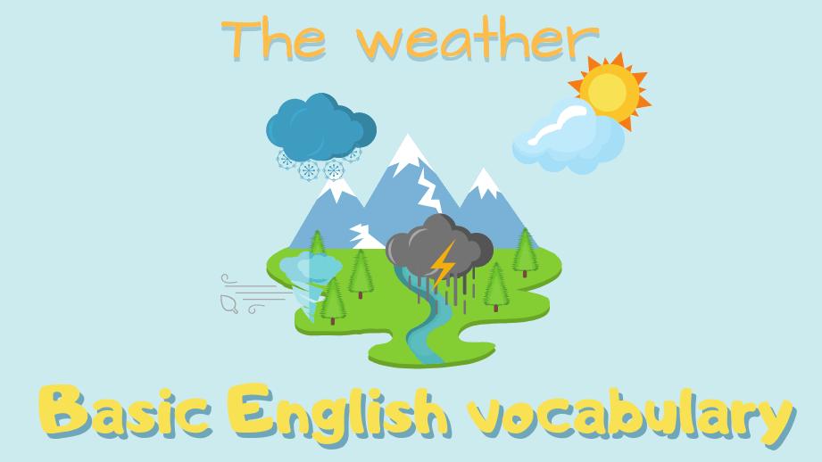 Vocabulaire de base : ⛅ la météo en anglais 🌡️