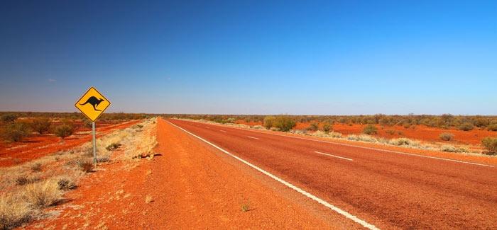photo route dans l'outback