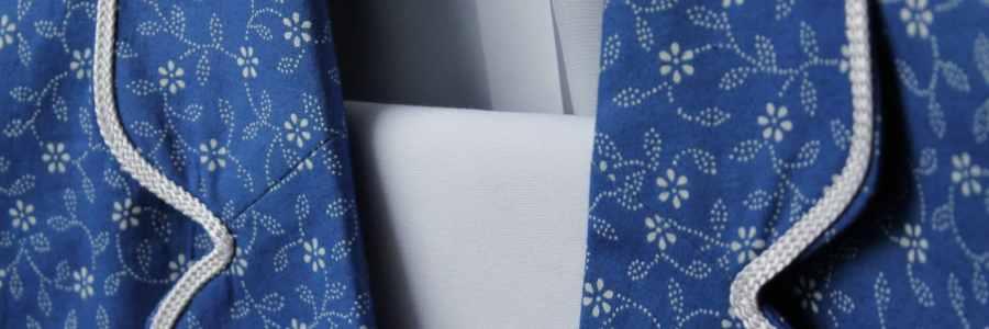 Kékfestő blézer, kékfestő design ruha tervezés és varrás