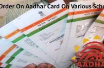Sc order on aadhar card
