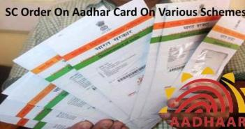 Sc order on aadhar card