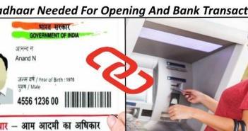aadhaar needed for bank account