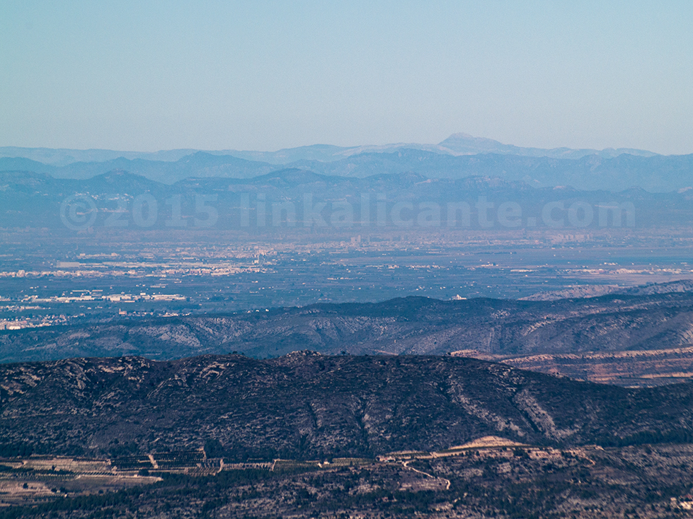 Vista del Penyagolosa desde Benicadell - Senderismo Alicante