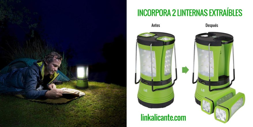 luz camping recargable led