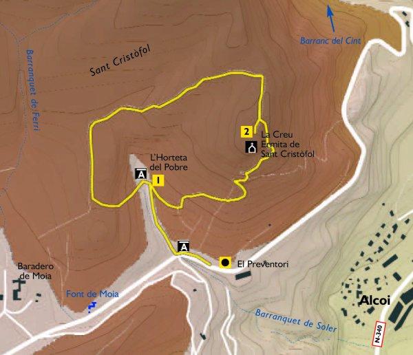 Croquis de la ruta amarilla