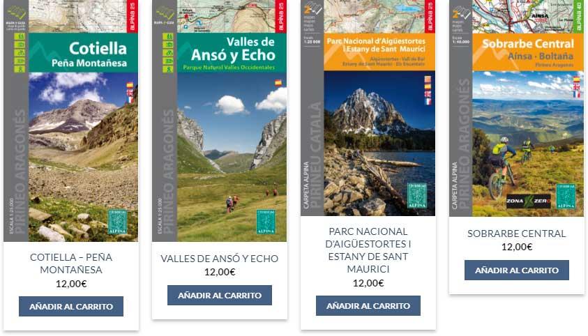 mapas trekking montaña
