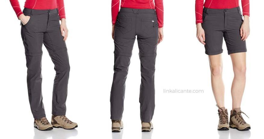 pantalones convertibles montaña mujer