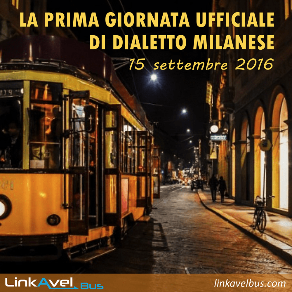 Post dialetto milanese Linkavel. Milano in bus. Viaggia con Linkavel