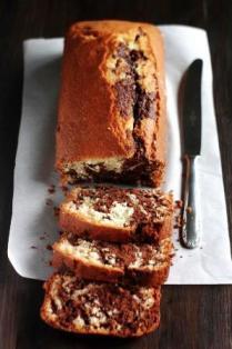 foto ricetta plum-cake al cioccolato e mandorle