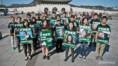 GreenPeace: proteste per l'Artic30 e Cristian D'Alessandro