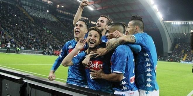 Udinese-Napoli 0-3: partenopei a -4 dalla Juve