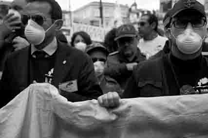Napoli, Piazza Dante.Manifestazione contro gli ecoreati nella terra dei fuochi.  Ottobre 2014, © Claudio Menna/All rights are reserved.