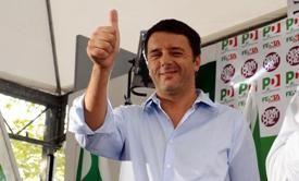 Matteo Renzi a  Torino,14 settembre 2013. ANSA/ANTONINO DI MARCO