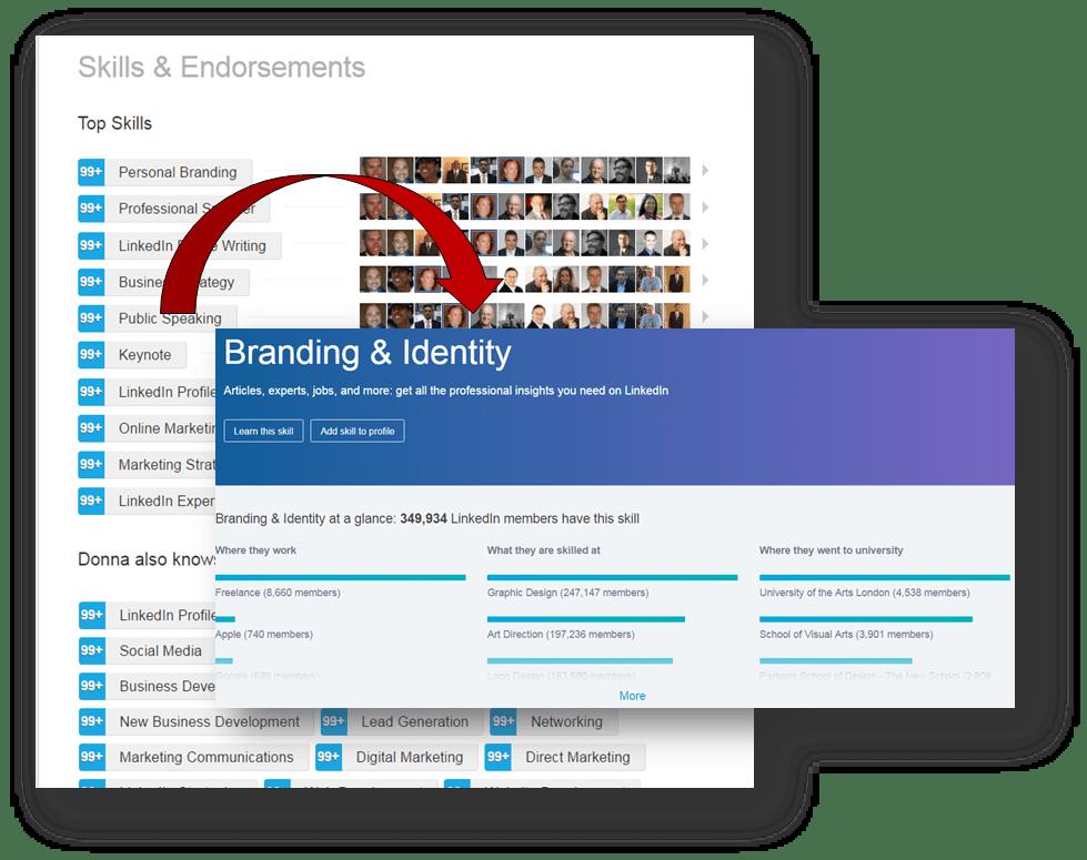 LinkedIn's Old Skills Page