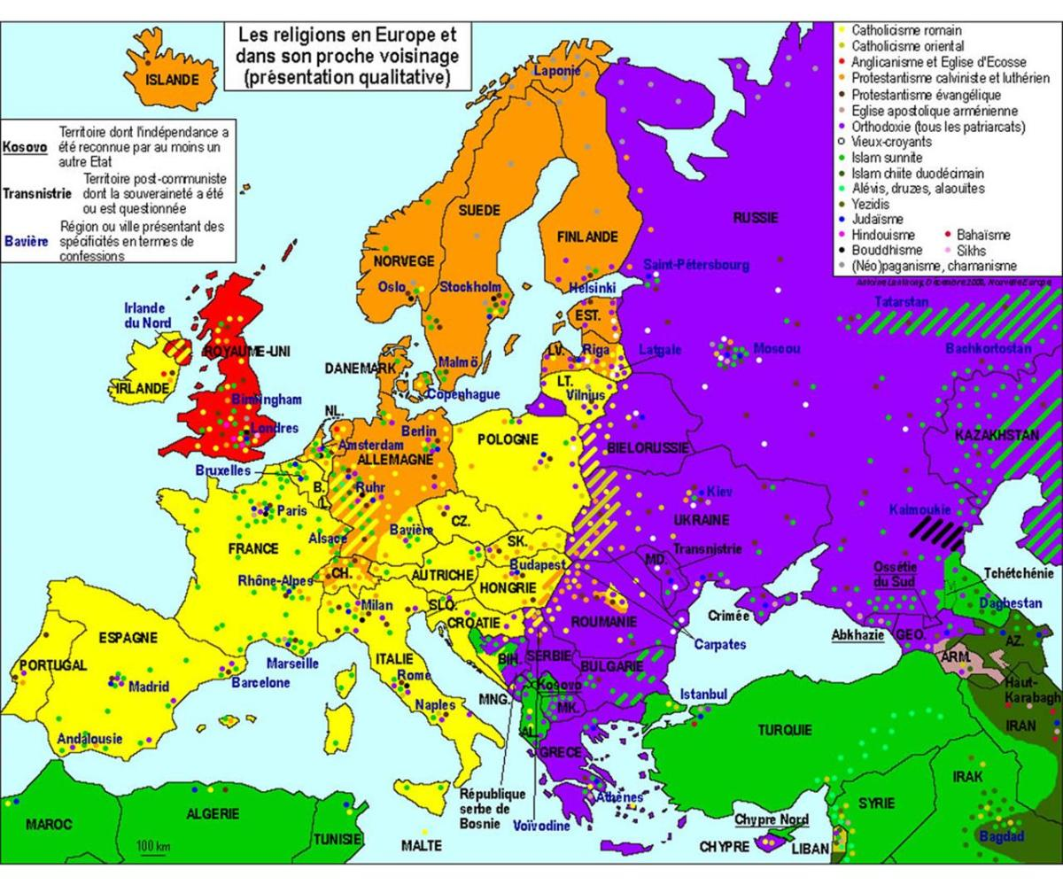 Religioni Nel Mondo Cartina.Chiese La Mappa Dell Europa Divisa Dalle Religioni Linkiesta It
