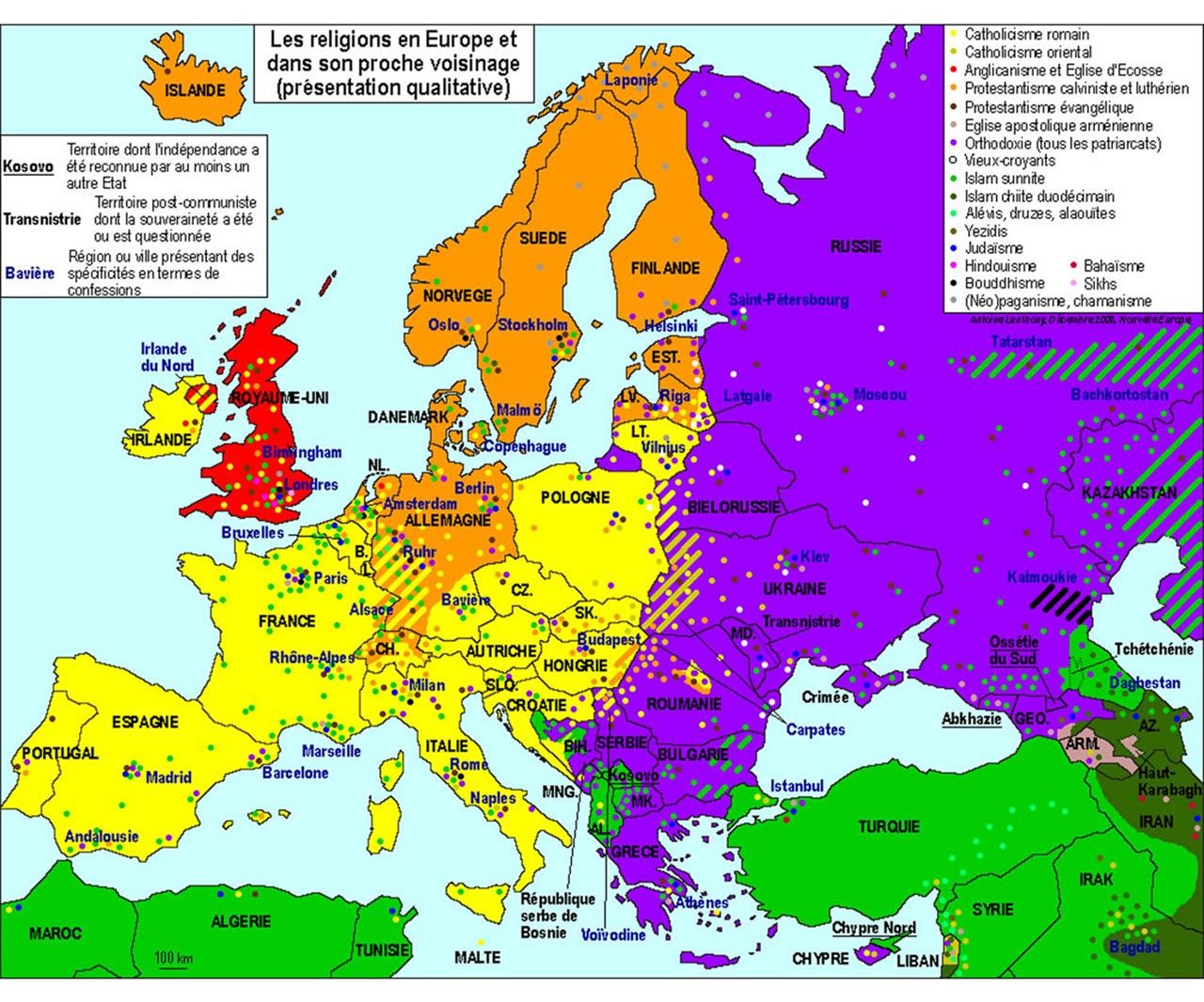 Cartina Del Mondo Con Le Diverse Religioni.Chiese La Mappa Dell Europa Divisa Dalle Religioni Linkiesta It
