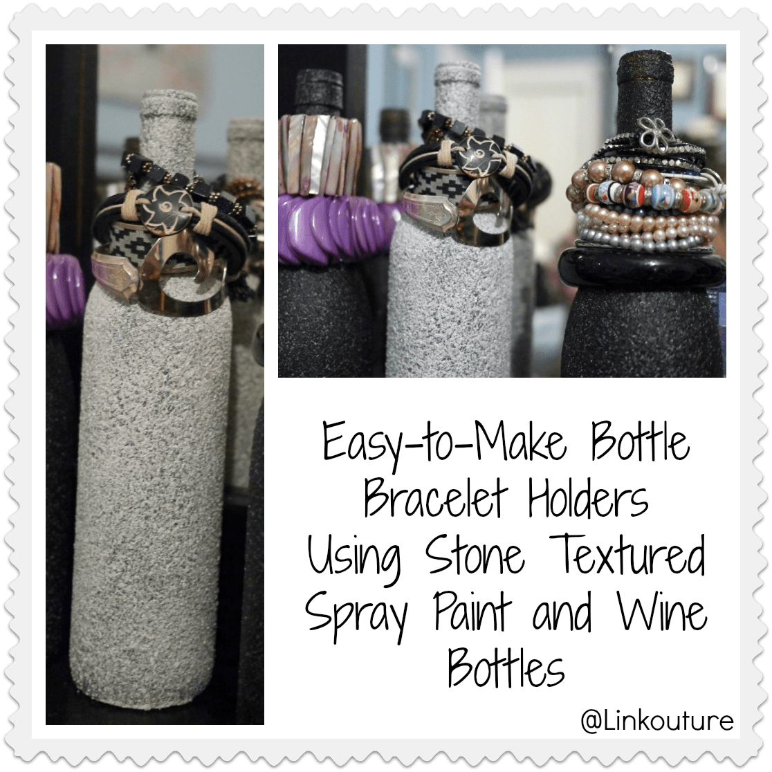 Fun with Stone Textured Spray Paint Part 1 Bottle Bracelet Holders