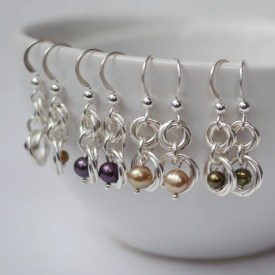 freshwater pearls on a mug