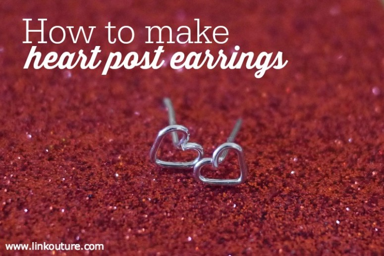 These diy heart post earrings are a fun jewelry making crafts project for Valentine's Day and are easy to make. They also make great gifts for your sister, friend or daughter, or a special treat for yourself!