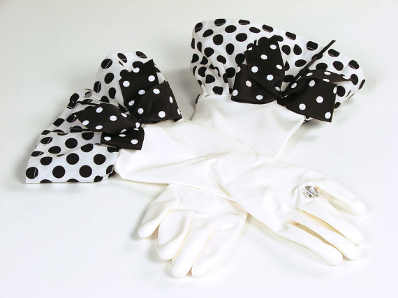 Black and white Glamour Gloves by Simply Whimsical Gifts