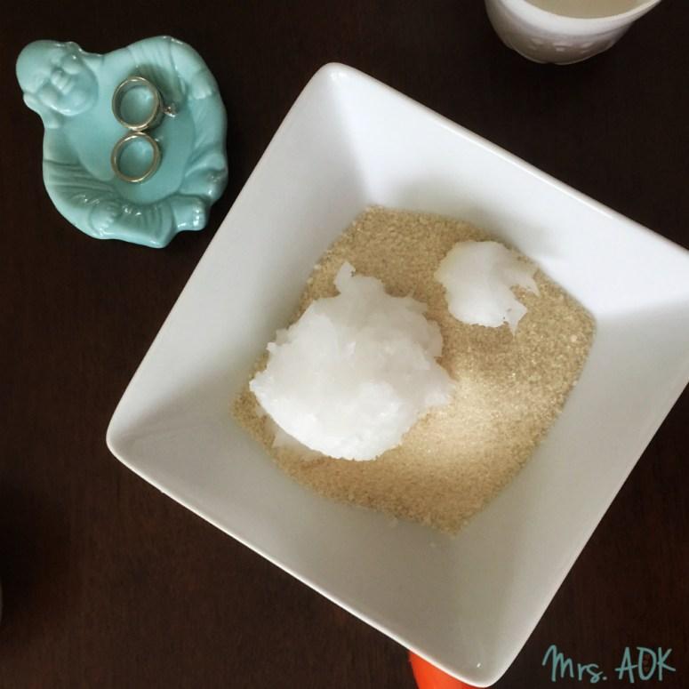 Coconut oil and sugar