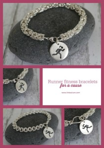 These individually handcrafted runner fitness bracelets for a cause make a beautiful piece of jewelry and gift idea for the runner in your life! Plus proceeds from each one are donated to a cause.