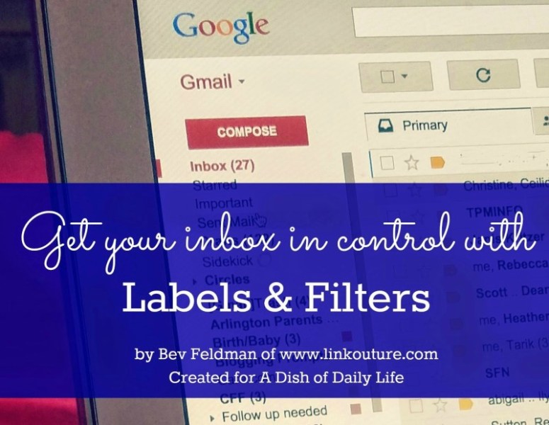 Does your inbox leave you feeling overwhelmed? Use these simple tips for using filters and labels to get your Gmail organized.