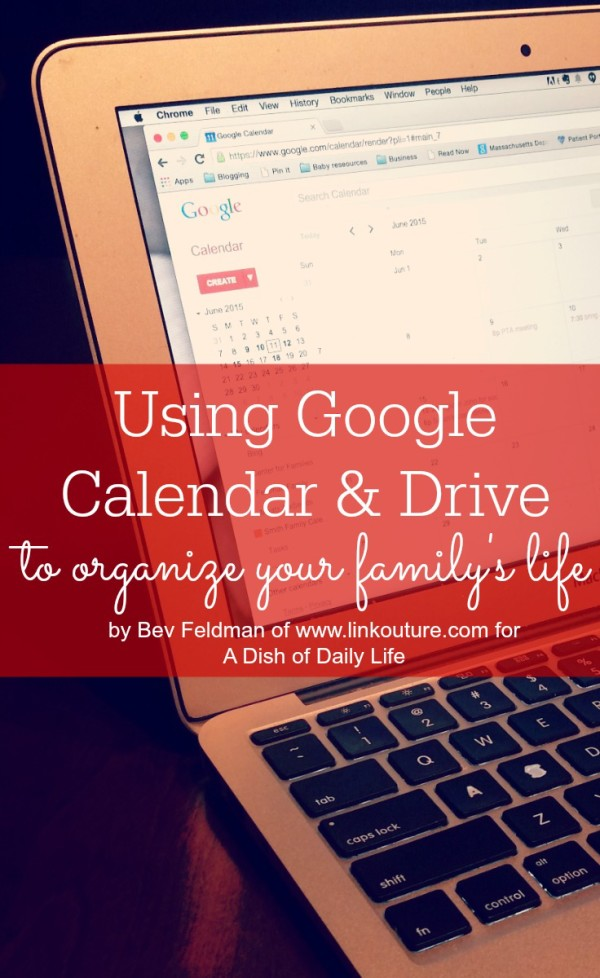 Google Drive and Google Calendar are two fantastic free tools that can be used to help keep your busy family life organized so that you have more time to enjoy with them!