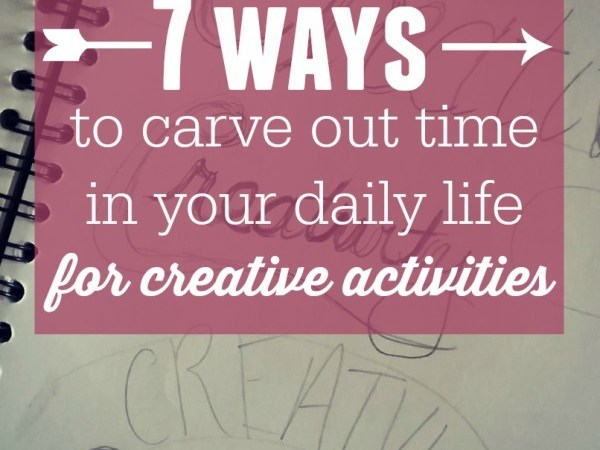 The secret to making time for your creative outlets