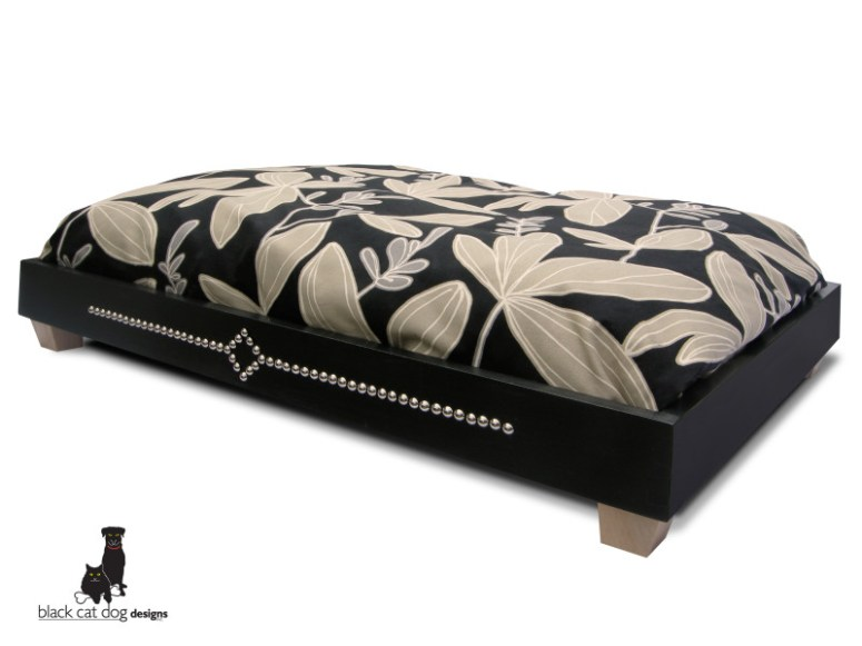 Bev Levreault of Black Cat Dog Designs makes stunning handcrafted beds for your favorite 4-legged friend.