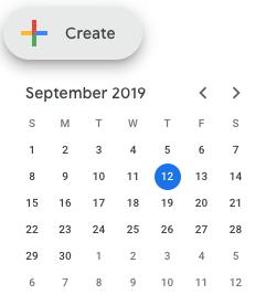 Google calendar screenshot