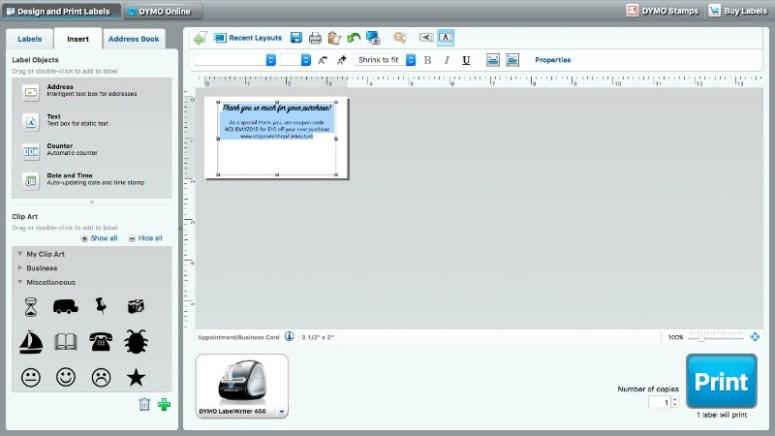 DYMO-LabelWriter®-tutorial-typing
