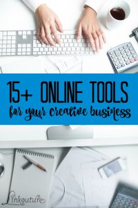 Are you a creative business looking to start or grow your business? These 15+ online tools, many of which are free or low-cost to use, will help you to build a website, sell your products, and stay organized!