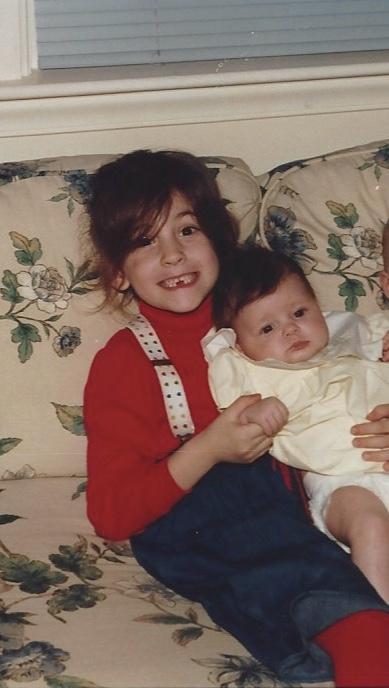 Bev holding Dana
