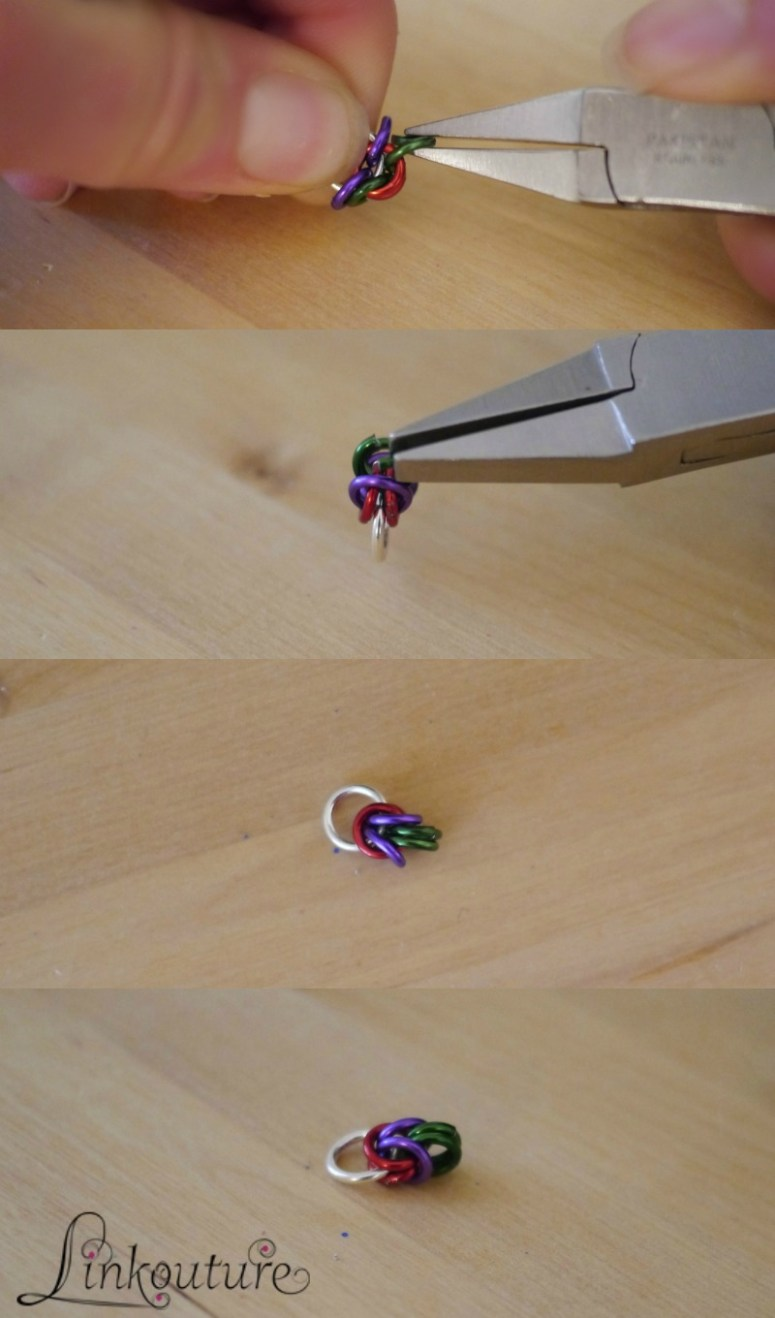 Byzantine chainmaille DIY jewelry tutorial