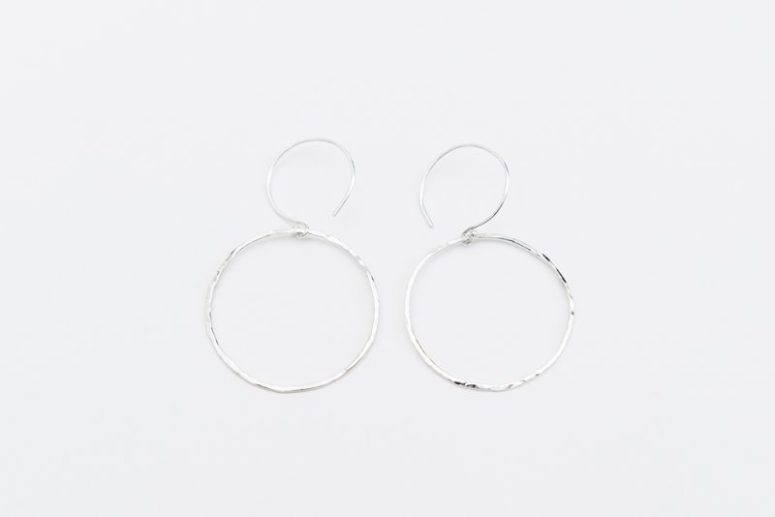 Linkouture sterling silver minimalist earrings