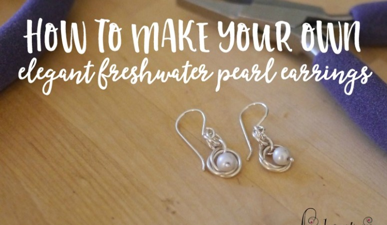 Learn how to make your own stunning elegant freshwater pearl earrings. They make a perfect DIY project or gift idea for someone special in your life, and you'll find yourself wearing them again and again!