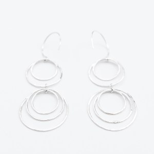 sterling silver nesting dangle earrings